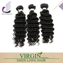 real tangle free brazilian virgin human hair , 14 16 28 30 inch human hair weave extension