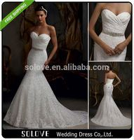 court train Mermaid wedding dresses made in usa wholesale