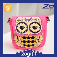 ZOGIFT Owl Printed Pattern Package Shoulder Bag PU Leather Chain Woman Messenger Bags Fox Floral Designer china leather handbag