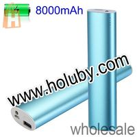 High Capacity 8000mAh Metal DC 5V 1A Power Bank Mobile Power for iPod iPhone GPS PSP MP3/MP4