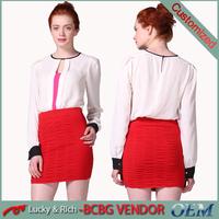 2015 hot sale custom fashion design latest ladies model simple blouse