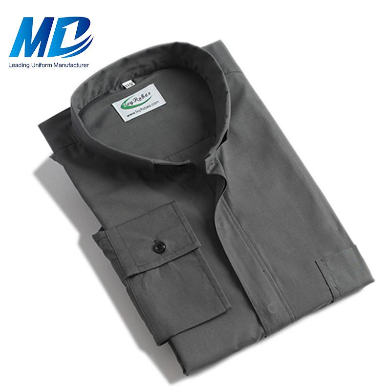Сплошной цвет Оптовая Окаймленный воротник духовенства рубашки мужские