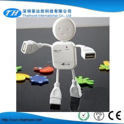 high speed man shaped pc mini 4 port 2.0 USB hub