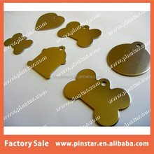 CHINA WHOLESALE PET TAGS ID STAINLESS STEEL 2 SIDED DIAMOND ENGRAVED DOG CAT NAME CHARM TAG