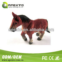 New product wood horse shaped eco-friendly wholesale novelty usb flash disk/usb disk