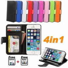 Hot selling Wholesale China Cheap Clutch Folding Stand Flip Wallet Leather Cover Case for iPhone 5c