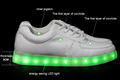 zapatos con led luces nght
