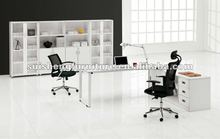 High quality germany office furniture simple design steel wood desk