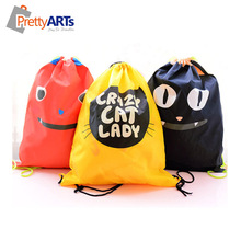 2015 new design beautiful custom cotton drawstring bag