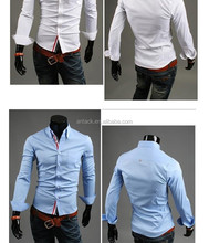 Veri Gude new design men long sleeve shirt solid color casual shirt with OEM service