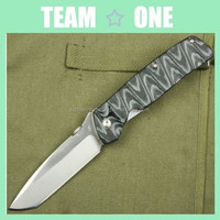 3D Micarta Pattern Handle Pocket Folder Knife 8Cr13 Blade Sanding Finish