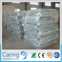 warehouse steel folding mesh cage