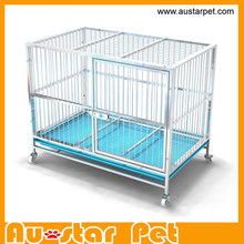 High Quality Strong Stainless Steel Dog Cage with Wheels