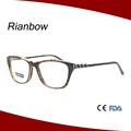 de la moda óptica gafas marco de acetato de diseño de italia