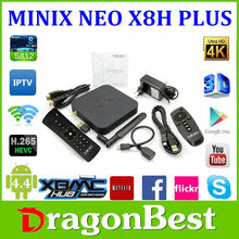 2015 china factory wholesale Bluetooth 4.0 version, Minix Neo X8-h,Android 4.4 2G+16G Amlogic S802-H Quad Core 4K TV Box