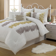 7pcs luxury embroidery fashion patckwork comforter sets