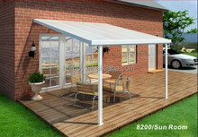 BSCI factory homey! Aluminum Attached Solid Patio Covers