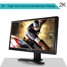 30'' 2K wholesale family-use and game-use LCD monitor with VGA, DVI, DP, AV input and 2560*1440 resolution, support wall mounted