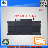"""Hot sales! New A1405 battery 7.3v 50wh Laptop Battery For Apple MacBook Pro 13"""" A1369 A1466 MC503 MC504 notebook"""