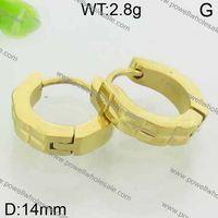 Vertigo remarkable yellow gold hoop earrings