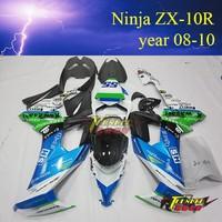 High quality Aftermarket ABS Custom Motorcycle fairingkits for kawasaki ninja 636 ZX10R 2008 2009 2010