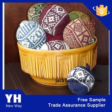 2015 High Quality Colorful Knitted Ball Christmas Ornament