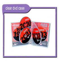 Printing DVD Replication CD Duplication in Transparent DVD Boxes Packaging