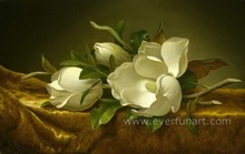 Modern decoration magnolia flower oil painting on canvas wholesale