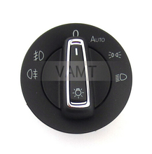 2014 New Chrome Auto Headlight/Fog lights control switch for VW Golf7 MK7,5GG 941 431 D