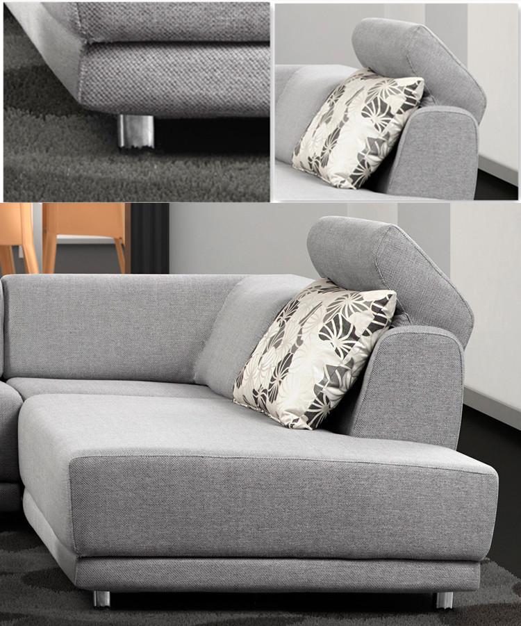 simple conception bas bras salon moderne petit coin canapé en tissu