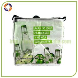 Custom Promotional beer wine bottle cooler bag,portable picnic cooler bag