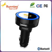 Portable USB Car Charging A2DP Function Bluetooth Car kits fm Transmitter