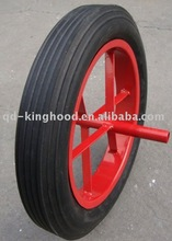 "Flat Free Solid Rubber Wheel 15""x3"""