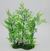 Aquarium artificial plastic plant with resin base for decorative the fish tank