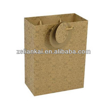 Small brown kraft paper handbags for gift packing