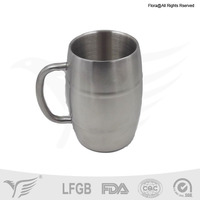 2015 new products double-wall stainless steel beer tankard
