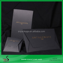 Sinicline Custom Black Package Bags for Scarf,Tie and T-Shirt