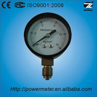 60mm bottom direction 2.5bar accuracy 1.6 lpg gas pressure gauge