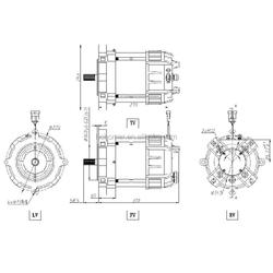 Energetic AC 3300rpm 51V 21N.m Starter Motor for Electric Patrol Car
