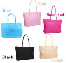 17 colors Women Simple wild shoulder straw bag female weaving bag Lady's handbag for office,holiday,beach bag hand woven bag
