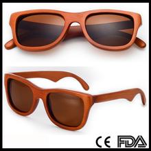 CD009 Dyed Orange Bamboo Polarized Sunglasses