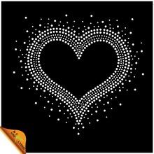Transfer Heart Shape Rhinestone Custom Design