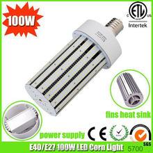 aluminimum fins heat sink 100w led lamp 360 degree led corn light