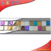 HBD03 Glow Glass Tile Border Stickers Bathroom Pictures Mosaic Pattern Art
