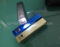 Aluminium alloy casing / LED TORCH / LED FLASHLIGHT portable safety 2600 Mah simple cheap power bank
