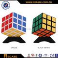 Plástico 3d premiunm puzzle cube, transparente cubo colorido juguete educativo