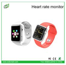 2015 vendita fabbrica a buon mercato smart band con cardiofrequenzimetro, telefono della vigilanza, sim card orologio smart