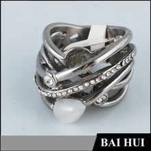 Manufacturer Latest Designs Fashion Pearl Ring/Wholesale Mens Pearl Ring Designs