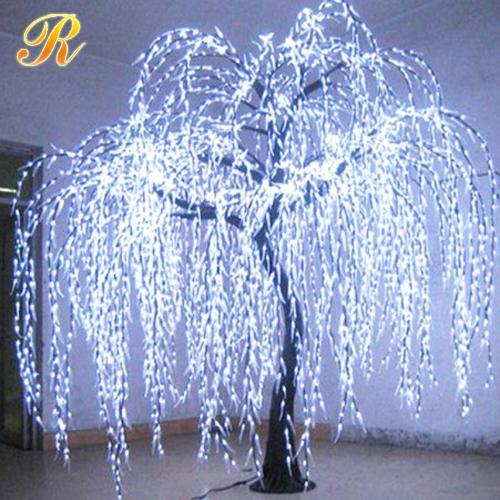 Solar Lit Christmas Trees