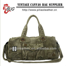 Cool Canvas duffle bag/travel bag army green for man/travel hand bag